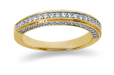 0.56 Carat Diamond Wedding Band in 18K Yellow Gold