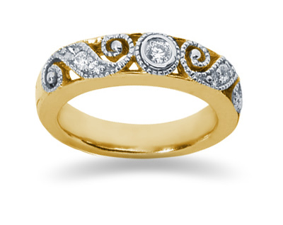 0.19 Carat Diamond Band in 14K Yellow Gold (Apples of Gold)