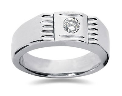 0.25 Carat Men's Diamond Ring in 14K White Gold