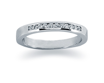 0.11 Carat Channel Set Diamond Band in 18K White Gold