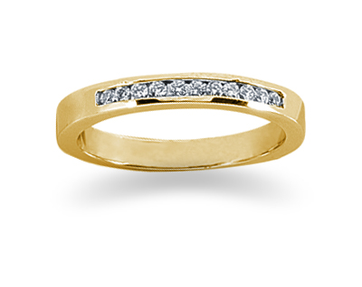 0.11 Carat Channel Set Diamond Band in 18K Yellow Gold