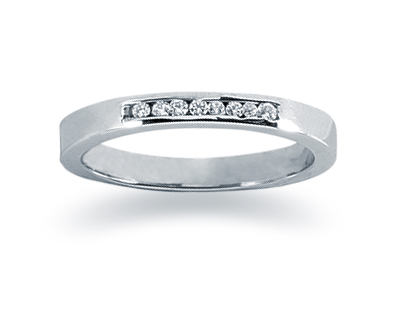 0.07 Carat Channel Set Diamond Band in 14K White Gold (Apples of Gold)