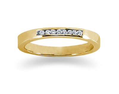 0.07 Carat Channel Set Diamond Band in 14K Yellow Gold