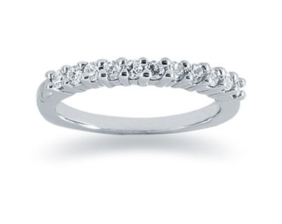 0.33 Carat Diamond Wedding Band in 18K White Gold (Apples of Gold)
