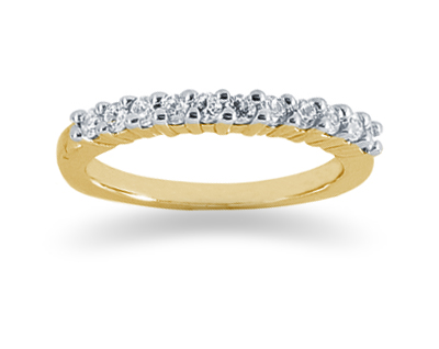 0.33 Carat Diamond Wedding Band in 18K Yellow Gold