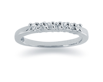 0.21 Carat Diamond Wedding Band in 14K White Gold