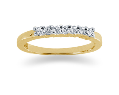 0.21 Carat Diamond Wedding Band in 14K Yellow Gold