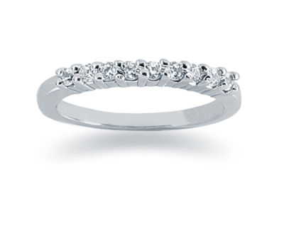 0.27 Carat Diamond Wedding Band in 14K White Gold (Apples of Gold)