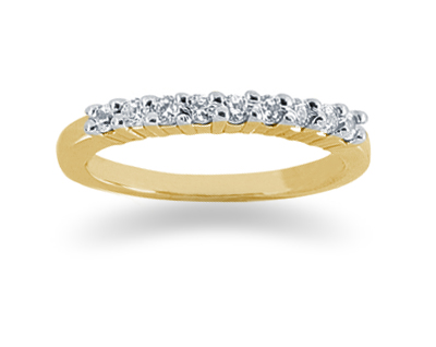 0.27 Carat Diamond Wedding Band in 18K Yellow Gold