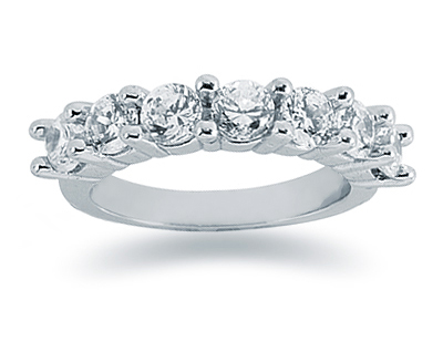 1.75 Carat Seven Stone Diamond Band in 14K White Gold