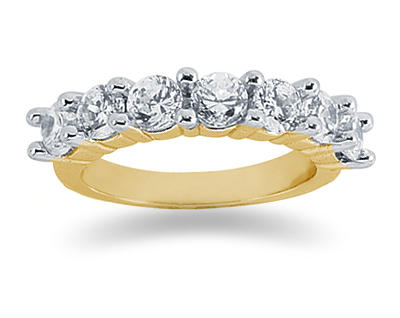 1.75 Carat Seven Stone Diamond Band in 14K Yellow Gold