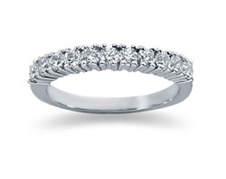0.55 Carat Eleven Stone Band in 14K White Gold