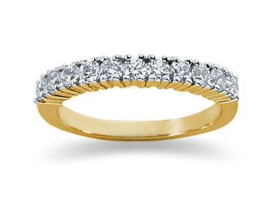 0.55 Carat Eleven Stone Band in 14K Yellow Gold