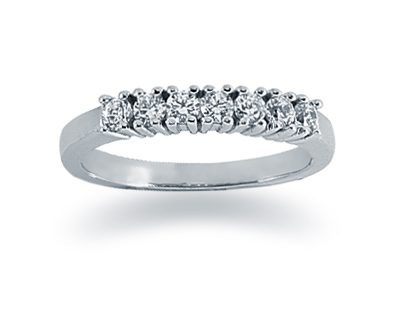 Seven Stone 0.35 Carat Diamond Band in 14K White Gold