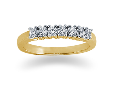 Seven Stone 0.35 Carat Diamond Band in 14K Yellow Gold