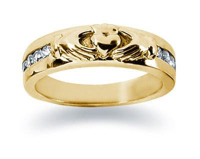 0.25 Carat Women's Diamond Wedding Band in 14K Yellow Gold (Apples of Gold)