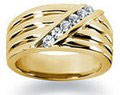 0.24 Carat Women's Diamond Wedding Band in 18K Yellow Gold