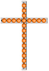 Sweet Myrrh Orange Topaz Cross Pendant in White Gold