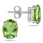 6x4mm Oval-Cut Peridot Studs Set in 14K White Gold