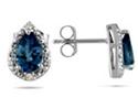 Pear-Shape Sapphire and Diamond Flower Earrings