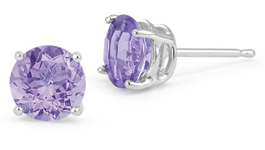 Platinum Tanzanite Stud Earrings