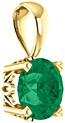 Rain-Forest Green Topaz Swarovski Solitaire Pendant in 14K Yellow Gold
