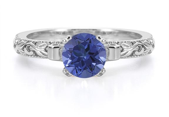 Engagement | Sapphire | White | Gold | Art