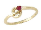 Ruby Twist Ring in 14K Yellow Gold