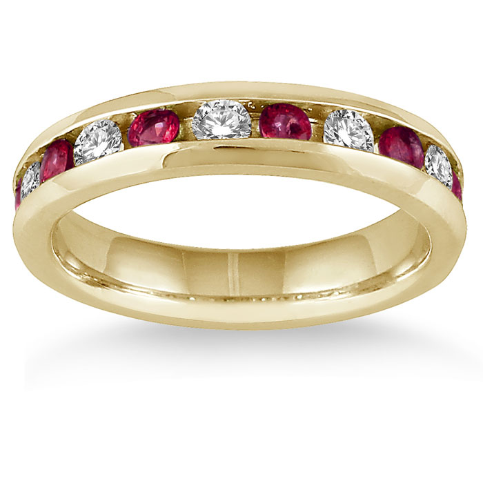 sterling bands white round ruby cut sapphire anniversary silver wedding and