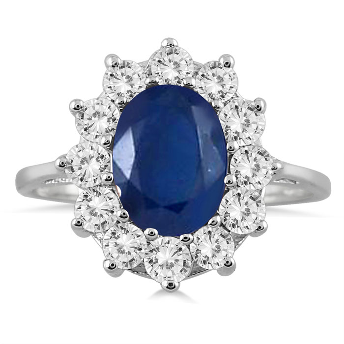 sapphire engagement of genuine carat blue ring modern attachment
