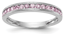 Pink Sapphire 14K White Gold Migrain Band