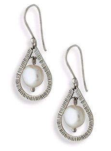 Buy Sterling Silver Tear-Drop Pearl Earrings