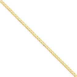 14K Gold Curb Chain Anklet