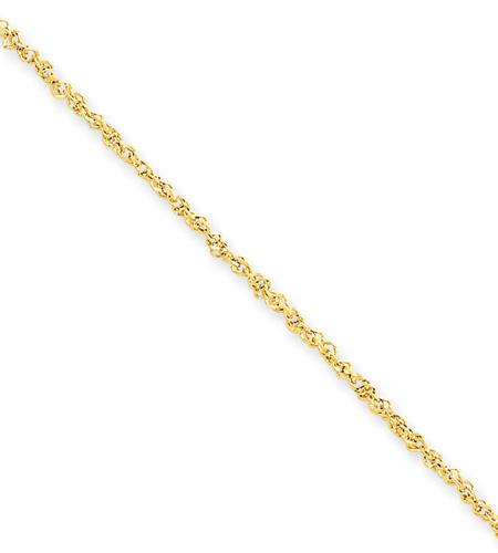 14K Gold Ropa Ankle Bracelet