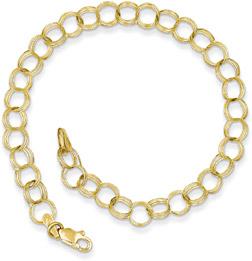 10K Gold Charm Bracelet for Women