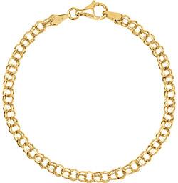 14K Gold Charm Bracelet for Women