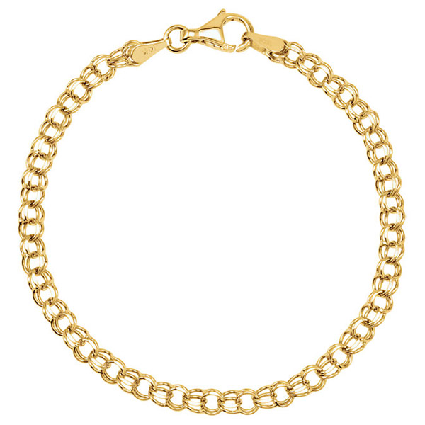 14K Solid Gold Bracelets for Women