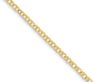 Women's Charm Link Bracelet in 14K Gold