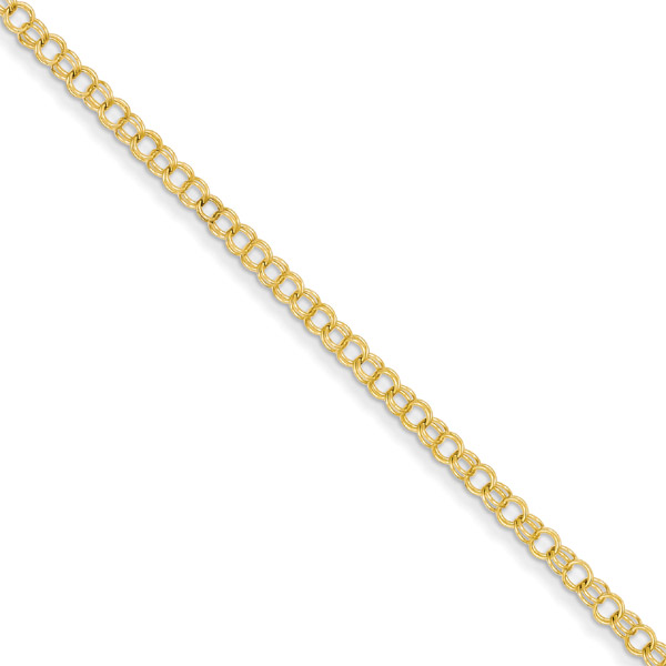 Women's Charm Link Bracelet in 14K Gold