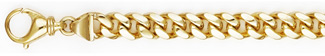7.5mm Cuban Link Bracelet for Men, 14K Solid Gold