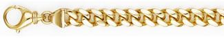 7.5mm Cuban Link Bracelet for Men, 14K Solid Gold