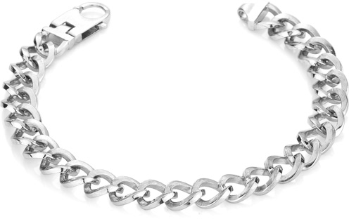 Twisted Curb Bracelet in 14K White Gold