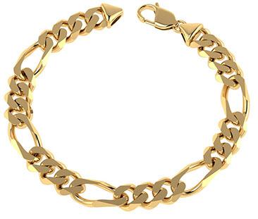 Handmade 14K Gold 10mm Figaro Link Bracelet