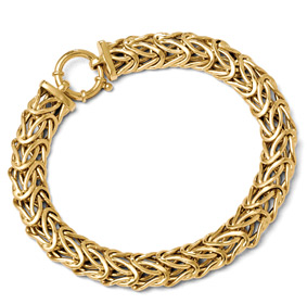 Italian Byzantine Bracelet in 14K Gold for Women