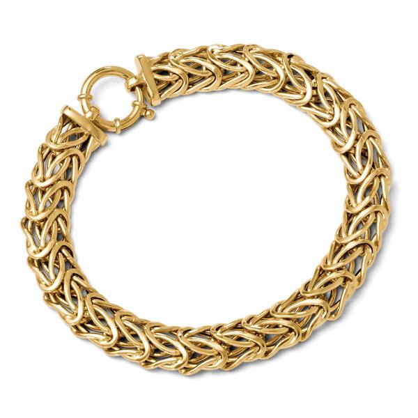 Italian Byzantine Bracelet in 14K Gold for Women