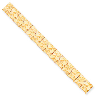 Men's 10K Gold Nugget Bracelet (12mm)