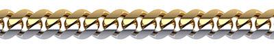 Men's 10.5mm 14K Two-Tone Gold Two Halves Curb Link Bracelet