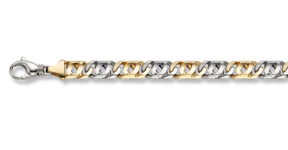 14K Gold Hand-Made Double Curb Bracelet