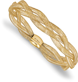 Triple-Strand Italian Stretch Bangle Bracelet, 14K Gold