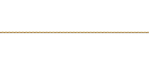 14K Gold Box Chain (0.55mm)